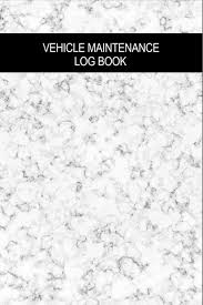 Vehicle Maintenance Log Book Marble Design Cover Repair