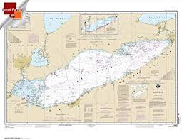 Paradise Cay Publications Noaa Chart 14820 Lake Erie 21 00 X 27 11 Small Format Waterproof