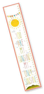 The Kids Room By Stupell You Are My Sunshine Growth Chart 7 X 0 5 X 39 Prou