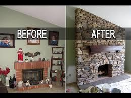 riding mower eldorado stone fireplace installation with mantel time lapse