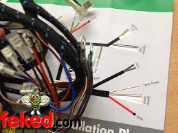 electrical wiring harness bsa wiring harness bsa bsa a50 bsa bsa a50 a65 1968 genuine lucas main wiring harness 54953385