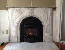 valor 530icn coal fire radiant gas fireplace and insert installed with windsor arch