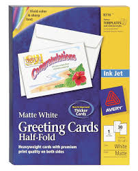 Avery Greeting Cards Avery Heavy Weight Greeting Card For Inkjet Printers With Envelopes 5 1 2 X 8 1 2 In White Matte Pack Of 30