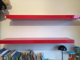 ikea lack floating shelves red