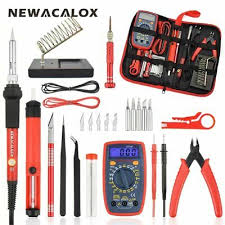 <b>NEWACALOX</b> 60W <b>Electric</b> Soldering Iron,Tweezers,Multimeter ...