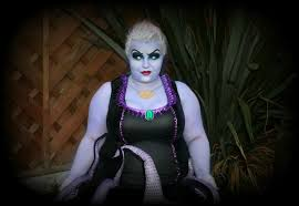 ursula makeup and costume from plus size boutique she might be loved