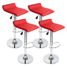 furniture red bar stool chairs living room interior modern black