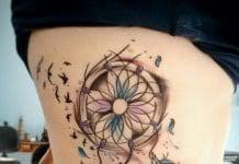 Dream Catcher Tattoos On Arm 100 Amazing Feather Tattoos you need on your body 94