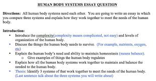 usamssciencefall body system essay assignment introduction to essay1 jpg