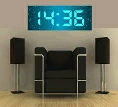 digital office wall clocks digital. Coolest Latest Gadgets \u2013 Geeky Clocks The Big Time Digital Wall Clock New Technology High Tech Electronic Office N