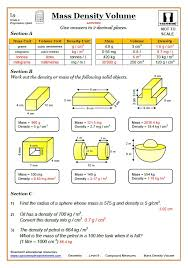 Compound Measures GCSE Maths Worksheets with Answers