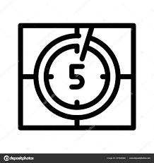 Video Countdown Timer Icon Vector Illustration Stock