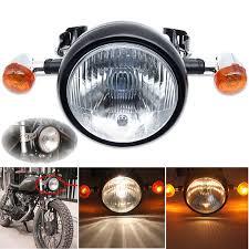 cafe racer headlight motorcycle parts ebay