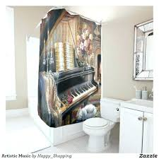 artistic shower curtains. Plain Shower Music Themed Shower Curtains Best Images On Artistic Curtain O For