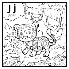 Important things about alphabet coloring pages.our kids grow up every day. Coloring Book For Children Colorless Alphabet Letter J Jaguar Royalty Free Cliparts Vectors And Stock Illustration Image 77390951