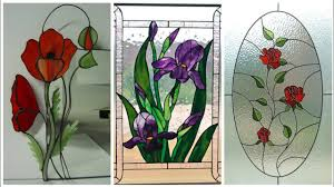 Beautiful Flower Designs For Glass Painting Beautiful Flowers Glass Painting Windows Decor Ideas Youtube