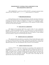 housekeeping contract template template housekeeping contract template