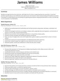Pharmacy Technician Resume Objective Stunning Resume Resume Objective For Pharmacist Pharmacy Tech Samples