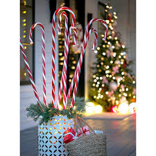 Candy Cane Themed Decorations Christmas Decor for Front Porches 49