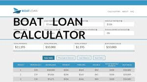 Boat Loan Calculator Loan Calculator For Buying A Boat Boat Payment Calculator Youtube