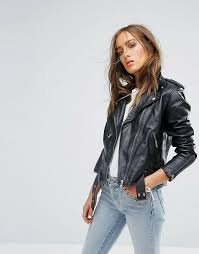 levis leather moto jacket black womens levis biker jacket yttsie78 larger image