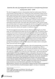 nazi terror and propaganda essay year hsc modern nazi terror and propaganda essay