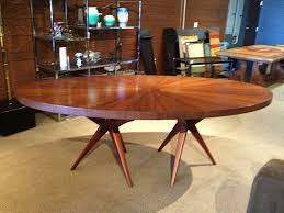 furniture fascinating mid century modern round dining table wooden with regard to designs 9