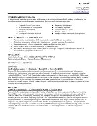 Executive Assistant Summary Of Qualifications Reference Skills For Administrative Assistant Resume Resume For 10