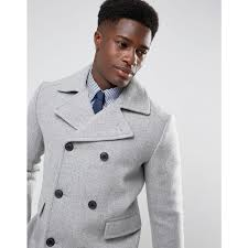 selected homme selected homme wool mix peacoat light grey melange men jackets coats bpjigz