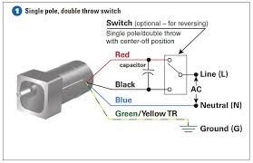 how to connect a reversing switch to a or wire psc example 1 how to connect the single pole double throw switch