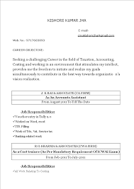 Accounting Assistant Resume Templates At Allbusinesstemplatescom