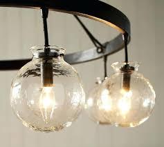 glass globe chandelier clear pendant lighting rh 14 light bubble glass globe chandelier rh