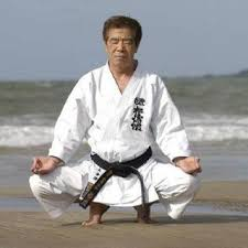 Hirokazu Kanazawa -entered, fought & won a tournament with a broken arm.  Wow, what spirit! | Martial arts styles, Shotokan karate, Karate picture