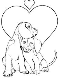 Small Picture Coloring Pages Draw A Puppy Grootfeestinfo