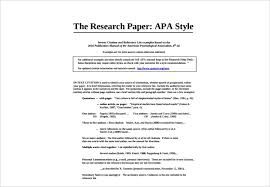 Sample Research Paper Apa Style A Complete Guide To Research Papers Free Premium Templates