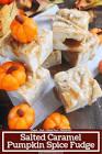 autumn pumpkin spice fudge