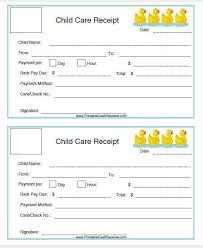 Child Care Receipt Daycare Invoice Chakrii