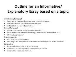 Explanatory Essay Format Informational Essay Format Magdalene Project Org