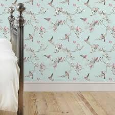 Teal Bedroom Wallpaper Beautiful Birds Duck Egg Wallpaper Dunelm Bedroom Decor Ideas