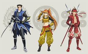 we ve already shown you screens of the sengoku basara dlc for ace attorney 6 but now we have some concept art from the official dev i d have to say