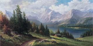 hand painted oil painting reion famous landscape painting size 48 x 24