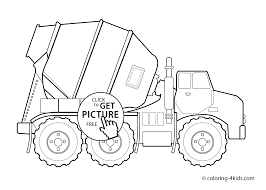 innovative cement mixer coloring pages simplified truck for preschoole 2132