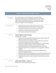 Download Logistics Manager Resume Haadyaooverbayresort Com
