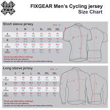 Cycling Jersey Size Chart Fixgear Mens Cycling Jerseys Padded Shorts Cs G102 Set