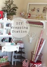 a wrapping and holiday organization station