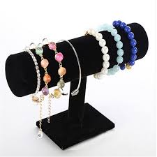 Bracelets Display Stands 100100100 Tier Velvet Bangle Bracelet Watch Chain Jewellery Stand 38