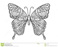 Butterfly Coloring Book For Adults Vector Stock Vector Image