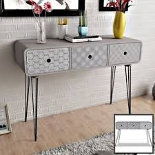 retro look furniture. Image Is Loading Grey-Console-Table-Side-Cabinet-Sideboard-Wood-Drawers- Retro Look Furniture A