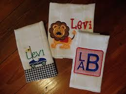 Little Boy Applique Designs Baby Boy Monogram Burp Cloths Personalized Burp Cloths Baby Boy Applique Monogram Burp Cloths Baby Shower Gift