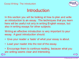 boardworks key stage english essay writing ppt  boardworks 2001 introduction essay writing the introduction in this section you will be